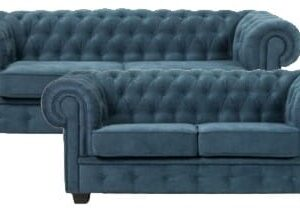 Chesterfield Manchester 2+3 pers sofasæt turkis