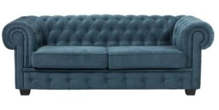 Chesterfield Manchester 3 pers sofa turkis