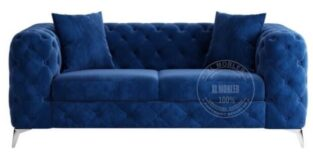 Royal 2 pers sofa blå velour