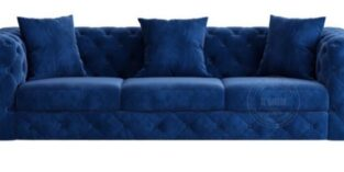Royal 3 pers sofa blå velour
