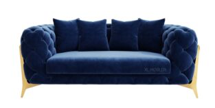 Royal II 2 pers sofa i blå Velour