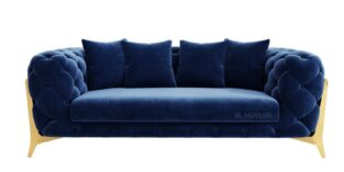Royal II 3 pers sofa i blå Velour